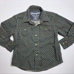 Wrangler Retro Premium Button Down Shirt Boys XXS